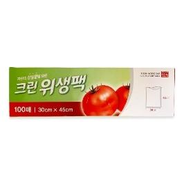 [싸고빠르다] 1월감사제_크린위생팩(대) 100매(10x30x45)