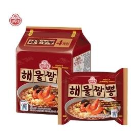 [싸고빠르다] 오뚜기 해물짬뽕 멀티팩(120g*4) 1개 (4봉)