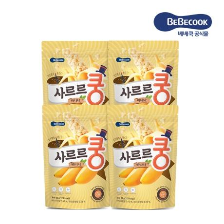 [베베쿡](생유산균 투입)사르르쿵 바나나 4봉