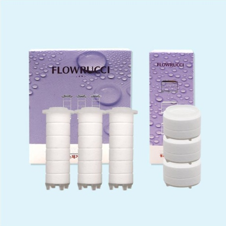 [플로루찌]주방용 코브라 필터(3입) 불순물 염소 녹물제거 수전