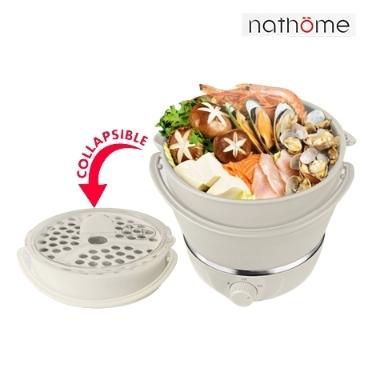 nathome 접이식 전기포트 캠핑용 라면포트