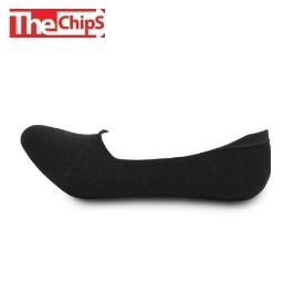 [싸고빠르다] THE CHIPS 국산 남성 페이크삭스 3켤레 블랙 고급 코마사 실리콘 패드