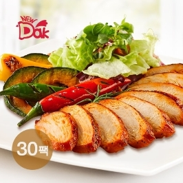 [늘필요특가] 뉴닭 매콤훈제 닭가슴살 슬라이스 30팩