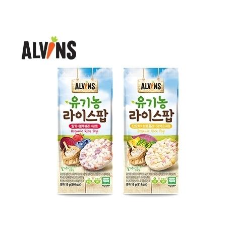 [엘빈즈] 우리 아이 유기농 라이스팝 12봉 세트