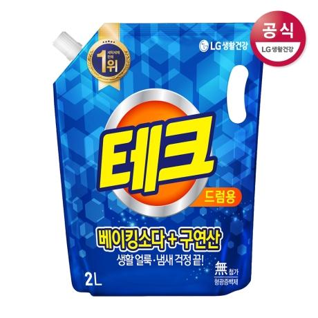 테크 베이킹소다+구연산 액체세제 드럼 리필 2L