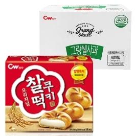[청우식품] 청우 오리지날 찰떡쿠키 X 60봉/그랑쉘 사과