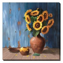 [롯데아울렛]정품 그림 캔버스액자 sunflowers 해바라기그림  (액자포함)