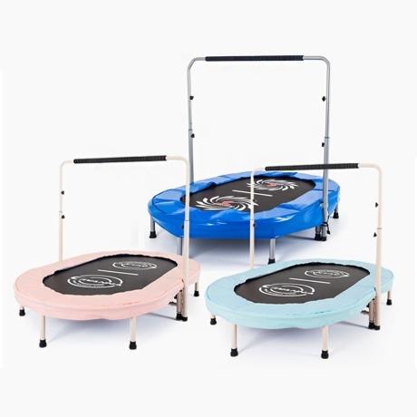 VW 접이식 2인용(타원) 트램폴린 / 어린이 트램펄린 방방 점핑 다이어트 키성장 쑥숙 크기 가정용