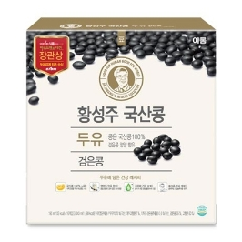 [원더배송] 이롬 황성주 검은콩 두유 190ml  X 16