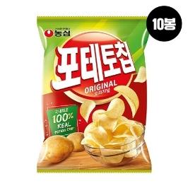 [원더배송] 농심 포테토칩오리지널 60g 10봉