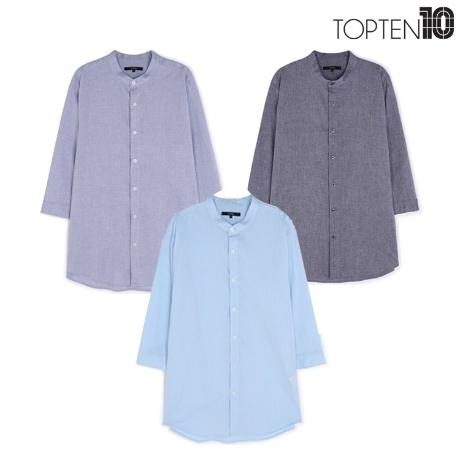 [탑텐] 남성 밴드카라 7부 셔츠