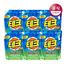 테크 진드기제거 액체 세제 드럼 리필 2L x6개 (무료배송)