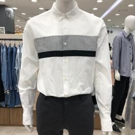 [모다아울렛] 닉스 남 코튼필라필 블록 레귤러핏 셔츠 NNE CSL109