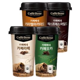 [투데이특가] 카페베네 컵커피 200ml X 10컵 3가지맛/유효기한 12월29일이후