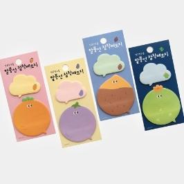 [싸고빠르다] 귀여운 말풍선 점착메모지 (4종 중 디자인 랜덤발송)