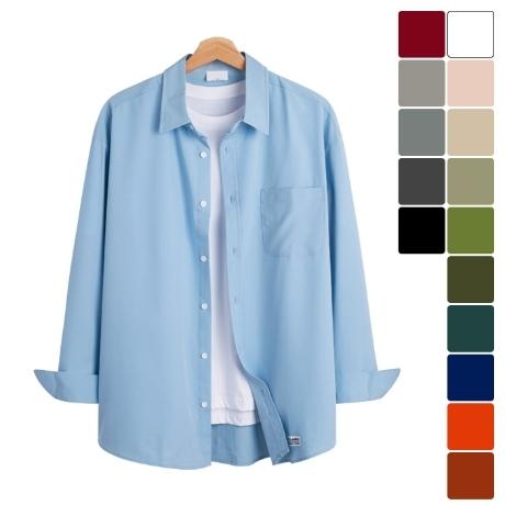 [모니즈] 오버핏 16컬러 링클프리 셔츠 SHT797