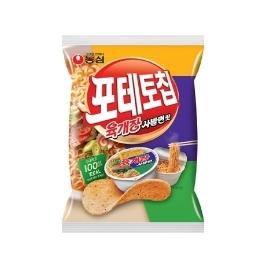 [원더배송] 농심 포테토칩 육개장사발면맛 125g 16봉
