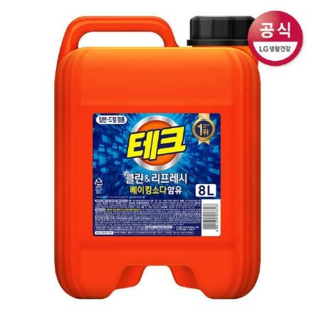 (현대Hmall)테크 클린 앤 리프레시 일드겸용 액체세제 8L