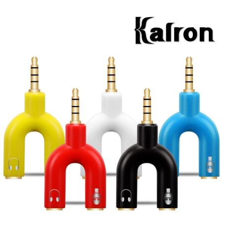 칼론 APC-A11 스테레오 4극 헤드셋 변환 Y형 젠더