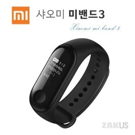 [샤오미] 신형 정품 미밴드3 한글화 OLED스크린 웨어러블 미핏연동 한글판