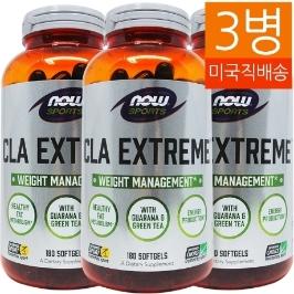[해외배송] 3병 나우푸드 CLA 익스트림 180소프트젤__