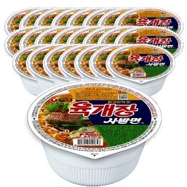 [대용량특가] 농심 육개장 사발면 86g 24컵