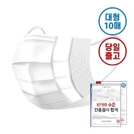애니프리 미세먼지 황사 방역 마스크 10매 대형 / KF80 수준 미세먼지 마스크