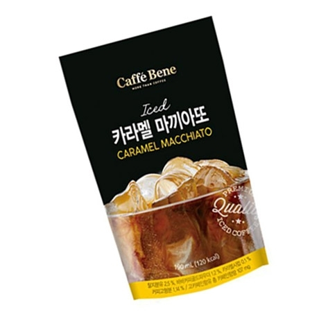 [싸고빠르다] 카페베네 카라멜마끼아또 파우치 190ml 1봉