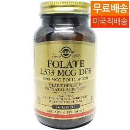[해외배송]솔가 엽산 Folate 1,333mcg DFG (Folic Acid 800mcg) 250정