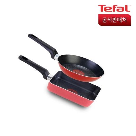[테팔]테팔 PTFE 미니 2종 세트(에그팬+미니팬18)