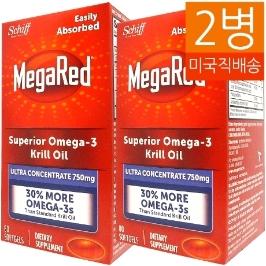 [커클랜드] [해외배송] 80젤/2병 쉬프 고함량 크릴오일 MegaRed Omega-3 Krill Oil 750mg--