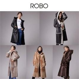 [하프클럽]ROBO  스페인 리버시블 후드 무스탕