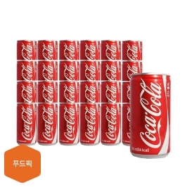 [원더배송] 코카콜라 185ml 90캔 꼬마캔/음료/콜라