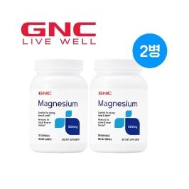 [해외배송] GNC 마그네슘 500 120정 천연마그네슘 1+1