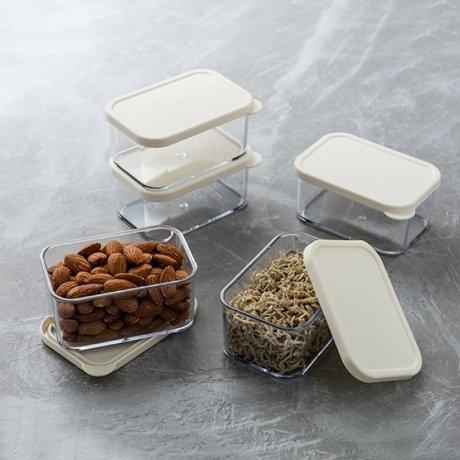 [실리쿡]냉장고소분용기 납작소형(아이보리) 5개