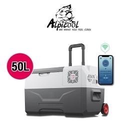 [알피쿨] [해외배송] 알피쿨 캠핑용 차량용+가정용 이동식 냉장고 50L LG콤프냉동고 관세포함!