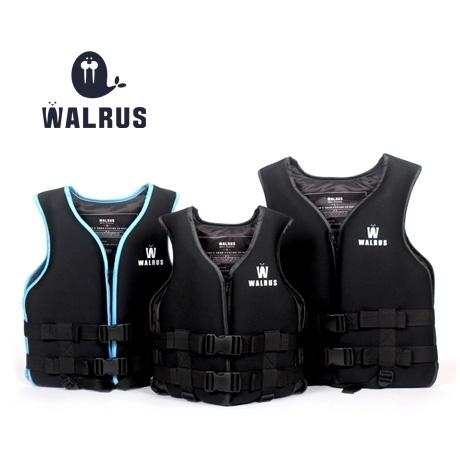 왈러스 네오프렌 구명조끼 남녀공용 XXL(110kg 이하) 블랙