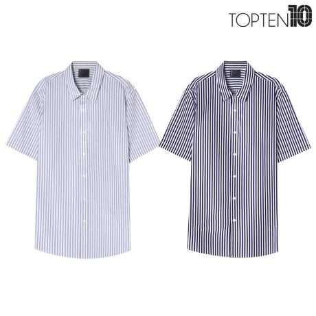 [탑텐] 탑텐 남성 포플린 반팔 셔츠_0615