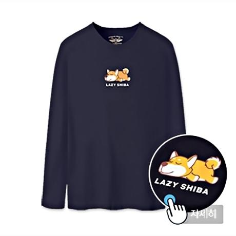 남녀공용 프린트 티셔츠 MBT-LRP1 (LAZY SHIBA)