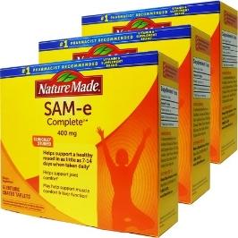 [커클랜드] [해외배송] 3병 네이쳐메이드 SAM-E (아데노실 메티오닌) 컴플리트 400mg 60정