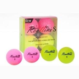 리얼스핀 리얼라인 S 스크린전용 골프공 노랑 핑크 2피스 4알