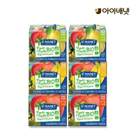아이배냇 유기농 생과일퓨레 쌩마멧 6팩(12개)