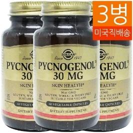 [지앤씨] [해외배송] 3병 솔가 피크노제놀 30mg 60베지캡