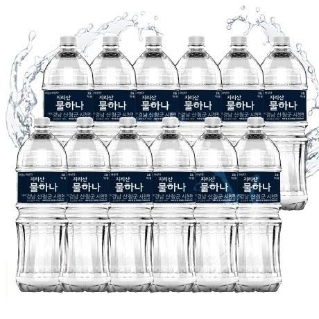 [원더배송]지리산 물하나 생수 2L X 12펫