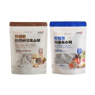 한생원 천연육수팩 1+1 (해물육수팩+천연버섯육수팩)
