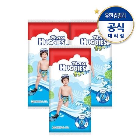[하기스]하기스 물놀이팬티 5단계 남아 2매 x 3팩