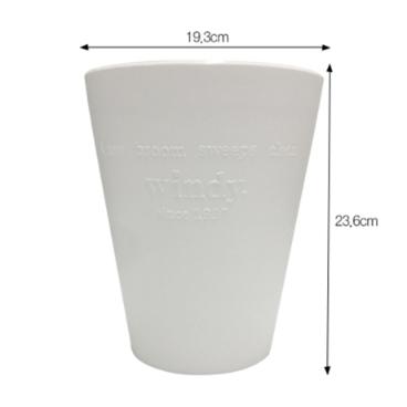 [싸고빠르다] 윈디 휴지통 19.3 x 23.6cm