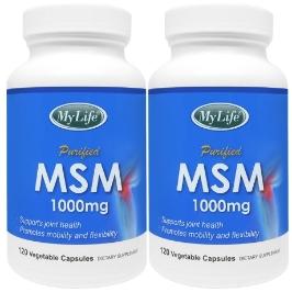 [해외배송] 2병 마이라이프 식이유황 MSM 1000mg