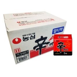 [원더배송] 농심 신라면 30봉 x 5박스 대용량 (총 150봉)