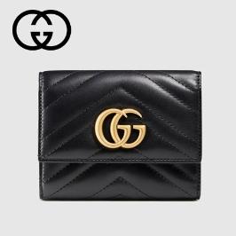 [구찌] [해외배송] 구찌 GG 마몬트 퀼팅 반지갑